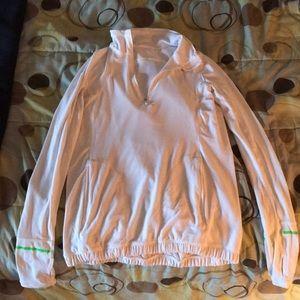 Lululemon thin pullover, quarter zip sweatshirt